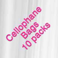 Self-Sealing Cello Bags 10 Pack