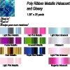 Poly Ribbon Metallic and Iridescent 1.25 inches wide