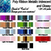 Poly Metallic and Iridescent Ribbon 1.25 inches wide