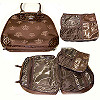 2 in 1 Brown Crown Cosmetic Bags Set