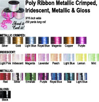Poly Ribbon  Metallic Iridescent 3/16 inches wide
