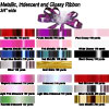 Poly Metallic Iridescent and Glossy 0.75 inches wide Ribbon