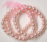 Triple Strand Pink Pearl Stretch Bracelet