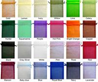 3 x 4 Organza Sheer Bags Solid Color
