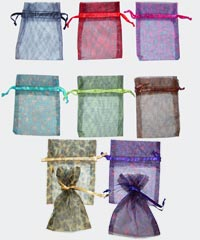 3 x 4 inch Wild Print Organza Bags