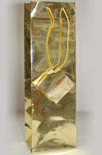3 x 9.5 Tall Metallic Gold Gift Bag