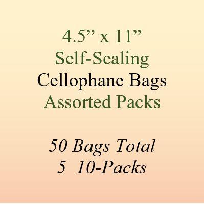 4.5 x 11cellophane bags