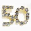 50 Number Rhinestone Pin