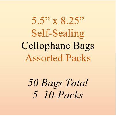 5.5 x 8.25 cellophane bags