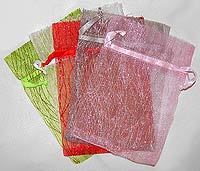 sparkling Stripe Organza Bags