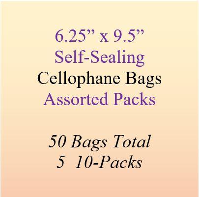 6.25 x 9.5 cellophane bags