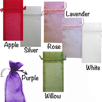 6x13 inch Organza Sheer Bags VALUE PACK