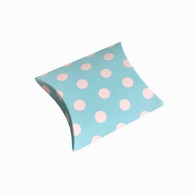 Aqua polka dot pillow boxes