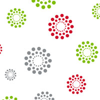 Christmas Blooming Dots 4 x 9 inch Cellophane Bags