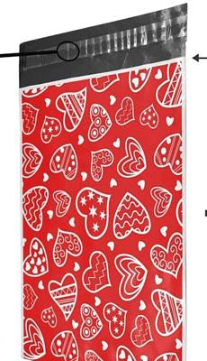 Designer Hearts Poly Mailers 10x13