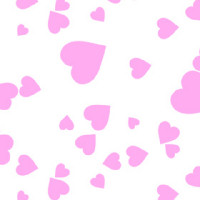 Shimmer Hearts PInk Cellophane Roll 24 x 100