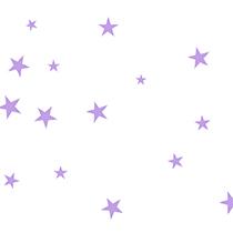 Lavender Stars cellophane bags