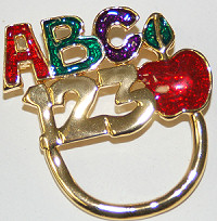 ABC Pin for Holding Eyeglasses