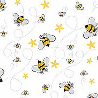Bees Gusseted Cellophane Bags