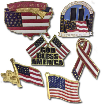 Assorted American Tac Pins