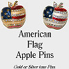 Pin American Flag Apple