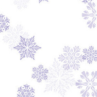 1Shimmer Snowflakes Purple