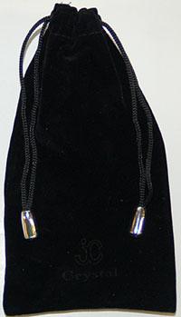 Black Velvet Jewelry Bag
