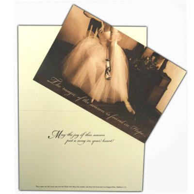 Ballerina Christmas Card