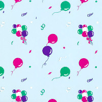 Confetti and Balloons Cellophane Roll 30 x 100