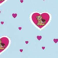 Bear-ing Roses Hearts Cellophane Roll 30 x 100