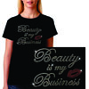 Black tshirt Beauty is My Business Tee