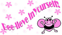Stickers Bee-lieve in Yourself 2 x 1 5/8