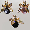 Pin Large Stone Bee with Springy Wings