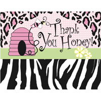 BEE Wild-n-Crazy Thank You Cards