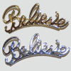 Believe Pin Gold or Silver