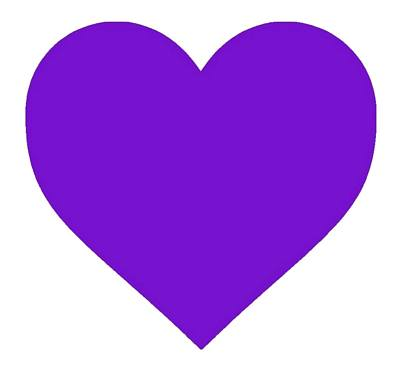 stickers Big Purple Heart
