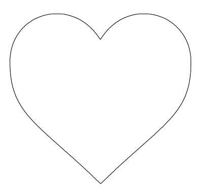 stickers Big White Heart