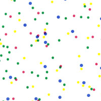Birthday Colors Dots Cello Roll 24 x 50