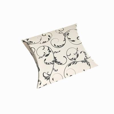 Black swirls pillow boxes