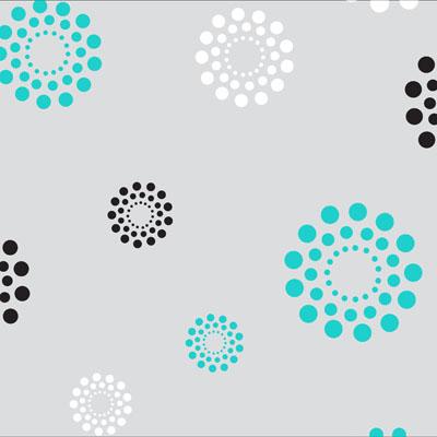Sassy Dots Aqua White Black Self Sealing Cellophane Bags 9 x 12