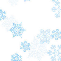 Blue Snowflakes Cellophane Roll 24 x 100