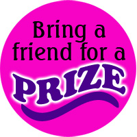 63 Stickers Bring a friend for a PRIZE