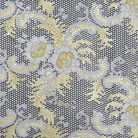 Lacy Design Black Silver and Gold Cello Roll 24 x 50