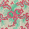 Lacy Design Red Green and Gold Cello Roll 24 x 50