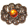 Pin Antique Brooch with Topaz Stone