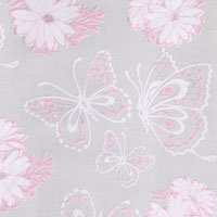 Butterflies and Daisies in Pink and White Cello Roll 24 x 50