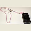 Cell Phone Zipper Necklace