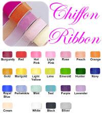 ".Classic Chiffon Ribbon 1.5"" wide - Buy 6 Rolls get 1 FREE!"