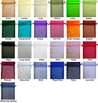 4 x 5 Organza Sheer Bags Solid Color