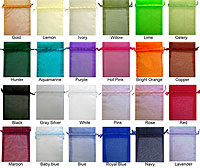 6 x 14 Organza Sheer Bags Solid Color